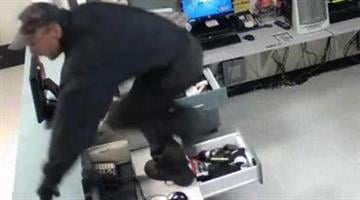 A suspect has been dubbed the 'Monkey Burglar' because he jumps over counters during burglaries. By Jennifer Thomas