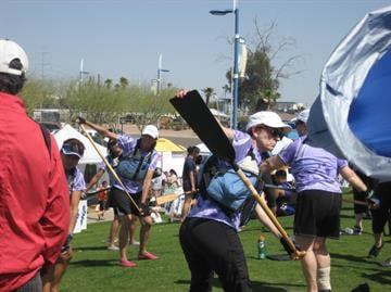 Teams practicing at the 2013 Arizona Dragon Boat Festival. By Andrew Michalscheck