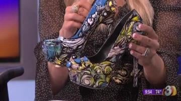 Carey Peña's vision + Ashley Macias' brushstrokes = fabulous shoes By Catherine Holland