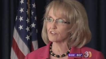 File photo of Gov. Jan Brewer By Tami Hoey