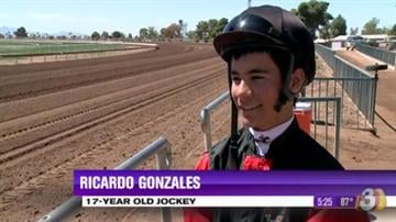 Ricardo Gonzales is only 17 years old but the horse jockey is already making a name for himself as the youngest rider at Turf Paradise. By Content Creator