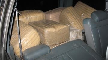 U.S. Border Patrol agents found 23 tightly wrapped bricks of marijuana inside a Chevy Tahoe. By Jennifer Thomas