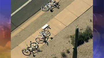 Two bicyclists were hit by a car in North Scottsdale Wednesday morning. By Jennifer Thomas
