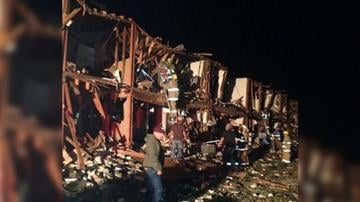 A volunteer firefighter provided this photo of damage to an apartment building near the site of the West, Texas fertilizer plant explosion on April 17, 2013. By Ashley Carter