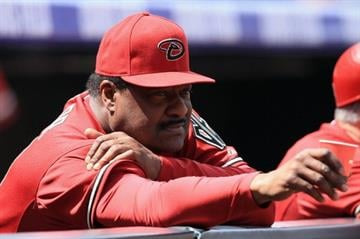DENVER, CO - APRIL 21:  Batting coach Don Baylor #25 of the Arizona Diamondbacks looks on from the dugout against the Colorado Rockies at Coors Field on April 21, 2013 in Denver, Colorado.  (Photo by Doug Pensinger/Getty Images) By Doug Pensinger