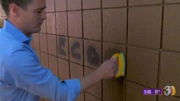 The product is applied once and in case the surface is vandalized by graffiti the company has an eco-friendly organic cleaner that will remove the graffiti. By Content Creator