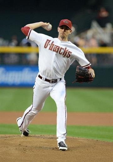 PHOENIX, AZ - APRIL 26:  Brandon McCarthy #32 of the Arizona Diamondbacks pitches against the Colorado Rockies in the first inning at Chase Field on April 26, 2013 in Phoenix, Arizona.  (Photo by Jennifer Stewart/Getty Images) By Jennifer Stewart