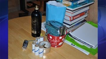 Photo of items found in Joshua Prater's home By Jennifer Thomas