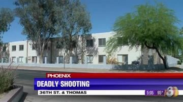 A 25-year-old man was fatally shot at an apartment complex near 36th Street and Thomas Road in Phoenix. By Jennifer Thomas