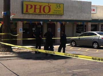 Two people were stabbed outside a restaurant at Northern and 35th avenues in Phoenix. By Jennifer Thomas