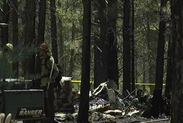 A small plane crashed near the community of Mountainaire, 15 miles south of Flagstaff. By Jennifer Thomas