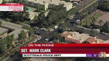 A wanted sex offender barricaded himself inside a Scottsdale apartment Thursday morning. By Jennifer Thomas