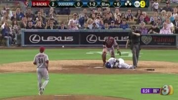 The Dodgers took it personally when Arizona's Ian Kennedy hit their star rookie Yasiel Puig in the face with a pitch. Then they really got mad when Kennedy hit starter Zack Greinke with another high pitch. By Mike Gertzman