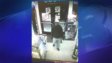 Mesa police have released this surveillance image from a convenience store showing the man they suspect shot a clerk Friday night. By Sarah Blais