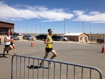 """Hundreds of runners have flown into the Valley to take part in the so-called """"Hottest race on Earth,"""" an 11K during the heat of the day. By Sarah Blais"""