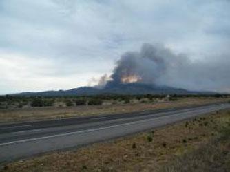 Smoke column view from Interstate 40 on July 1 By Jennifer Thomas