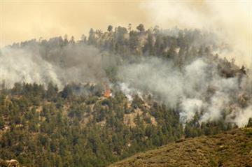 Dean Peak Fire By Jennifer Thomas