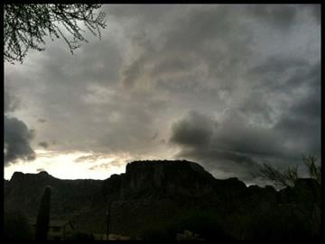 Superstition Mountains Thursday morning By Mike Gertzman