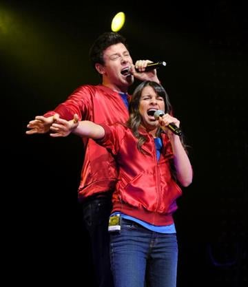 NEW YORK - MAY 28:  Lea Michele and Cory Monteith from the cast of Glee perform at Radio City Music Hall on May 28, 2010 in New York City.  (Photo by Jason Kempin/Getty Images) By Jason Kempin
