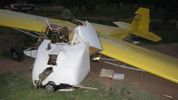 A small plane crashed in an orchard in San Simon on July 13. By Jennifer Thomas