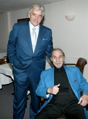 BEVERLY HILLS, CA - OCTOBER 6:  Comedian Sid Caesar (R) and actor Dennis Farina attend the Friars Club of California celebration honoring Caesar for his 80th birthday on October 6, 2002.  (Photo by Frederick M. Brown/Getty Images) By Frederick M. Brown