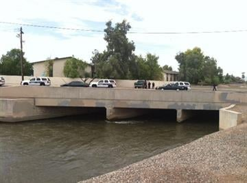 A child was pulled from a canal at 23rd Avenue and Indian School Road in Phoenix. By Jennifer Thomas