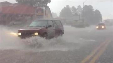 A strong thunderstorm parked over Flagstaff at about noon on Thursday and left much of the city underwater. By Mike Gertzman