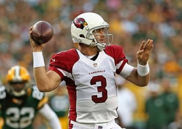 GREEN BAY, WI - AUGUST 09:  Carson Palmer #3 of the Arizona Cardinals throws a pass against the Green Bay Packers at Lambeau Field on August 9, 2013 in Green Bay, Wisconsin.  (Photo by Jonathan Daniel/Getty Images) By Jonathan Daniel