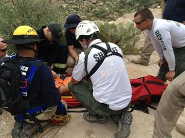 Injured hiker rescued near Romero Pools in Catalina State Park By Jennifer Thomas