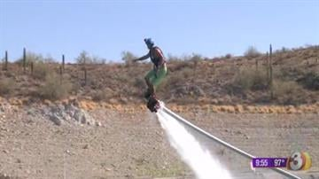It's the hottest thing making waves around the world and now it's at Lake Pleasant -- flyboarding. By Catherine Holland