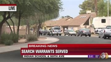 Phoenix police and federal agents served search warrants at two locations Wednesday morning. By Jennifer Thomas