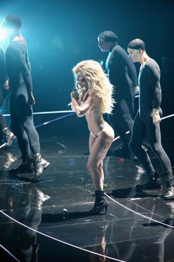 NEW YORK, NY - AUGUST 25:  Lady Gaga performs onstage during the 2013 MTV Video Music Awards at the Barclays Center on August 25, 2013 in the Brooklyn borough of New York City.  (Photo by Neilson Barnard/Getty Images for MTV) By Neilson Barnard