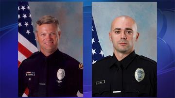 Officers Billy Daniel (left) and Jeremy Hall By Jennifer Thomas
