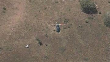 A helicopter crashed west of Payson Wednesday morning. By Jennifer Thomas