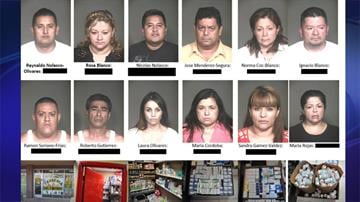Officers from the Mesa Police Department served 14 search warrants around the Valley Wednesday morning as part of an investigation into the illegal sale of prescription drugs. By Mike Gertzman
