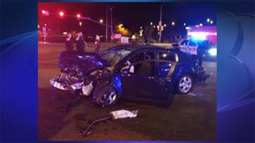 A suspect in an alleged road rage incident was involved in a collision at Thornydale and Cortaro Farms roads in Tucson. By Jennifer Thomas