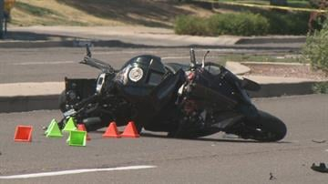 A motorcycle rider died in a collision with a pickup truck at Thunderbird Road and 41st Avenue in Phoenix. By Jennifer Thomas