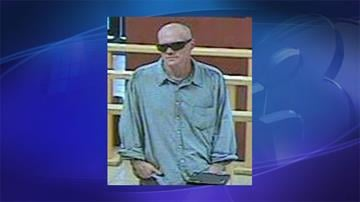 Photo of suspect in armed robbery at Desert Schools Federal Credit Union By Jennifer Thomas