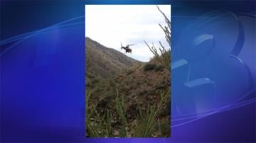The Pima County Sheriff's Department helicopter utilized the hoist to lift an injured woman from Box Canyon. By Jennifer Thomas