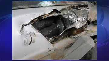 CBP officers assigned to the Port of Nogales seized nearly 35 pounds of meth from underneath a plastic bed liner of smuggling vehicle. By Jennifer Thomas