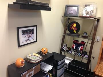 One corner of the coach's office. By Brad Denny