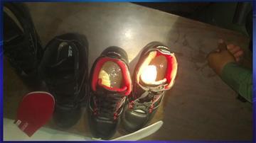 Heroin hidden in shoes By Jennifer Thomas