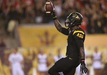 ASU RB Marion Grice leads the nation with 6 touchdowns. By Christian Petersen