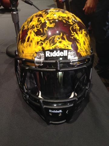 Front of the helmet By Brad Denny