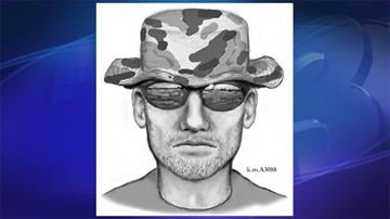 Composite sketch of Suspect 1 described as a white male, 20 to 30 years old, 5 feet 10 inches tall, 180 pounds, with slight facial hair. By Jennifer Thomas