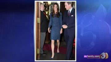 Kate Middleton wears a Rebecca Taylor design By Erin Kennedy
