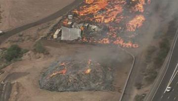 Debris fire in Mesa By Jennifer Thomas