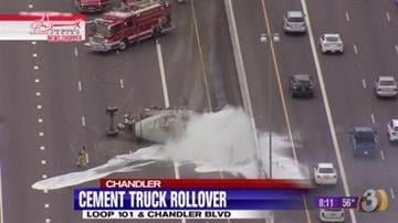 Cement truck rollover By Jennifer Thomas