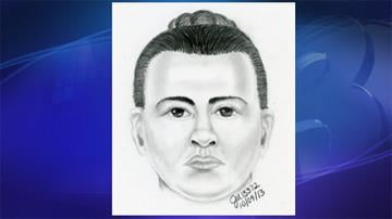 Sketch of one of the suspects By Jennifer Thomas