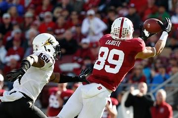Carrington defends a pass thrown to Stanford's Devon Cajuste (Photo by Stephen Lam/Getty Images) By Stephen Lam